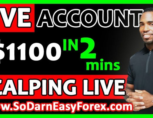 $1100 IN 2 MINS Scalping LIVE  – So Darn Easy Forex™ University