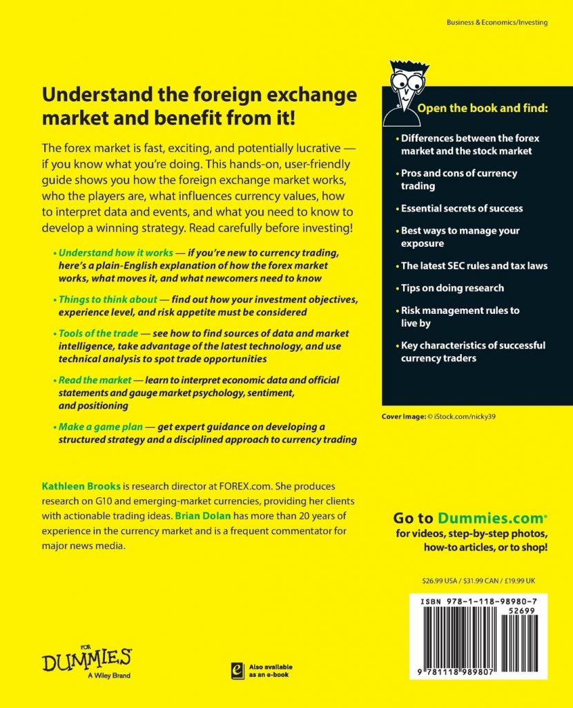 Currency Trading for Dummies Book - Back Title