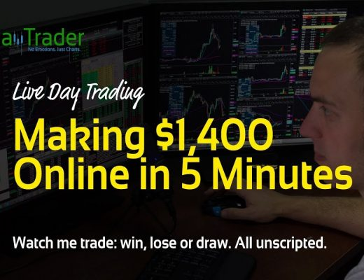 Live Day Trading: Making $1,400 Online in 5 Minutes