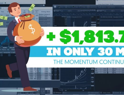 Momentum Continues +$1,813.72 in 30min