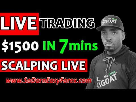 (LIVE TRADING) $1500 IN 7 Mins SCALPING LIVE - So Darn Easy Forex™, Forex Scalper Trader