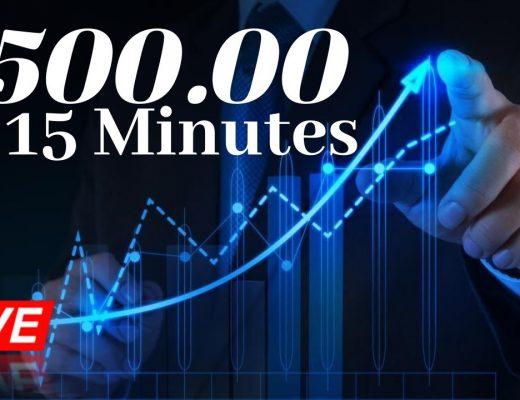$500 in 15 Minutes using Forex Scalping Strategy & Fibonacci Tool