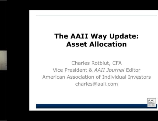 A Sample Investing Plan Based on the AAII Way