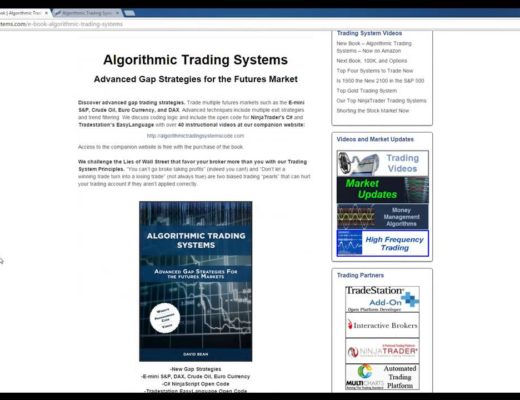 Algorithmic Trading Systems Book Release on Amazon