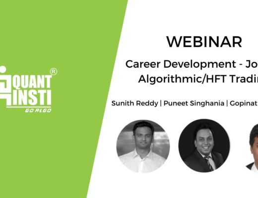 Career Development Webinar – Jobs in Algorithmic/HFT Trading