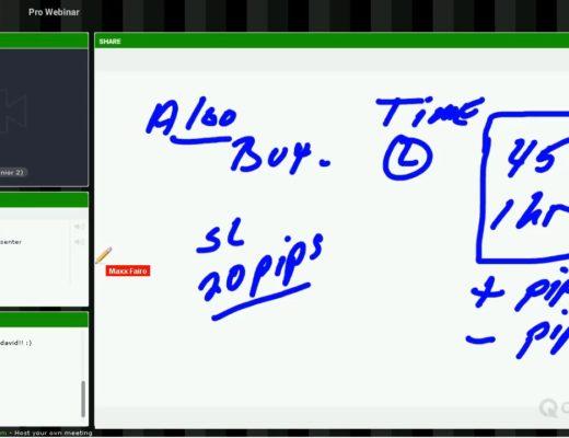 Dex Trader Forex-com Educational Signals explaining the ALGO