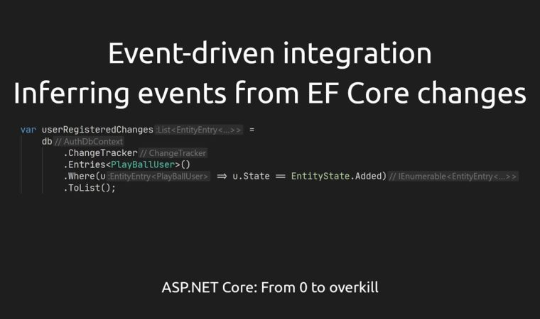 Event-driven integration #2 – Inferring events from EF Core changes [ASPF02O E041]