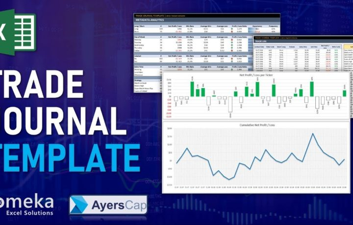 Excel Trading Journal Template | Trade Tracking Spreadsheet Template