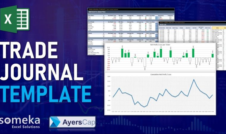 Excel Trading Journal Template   Trade Tracking Spreadsheet Template