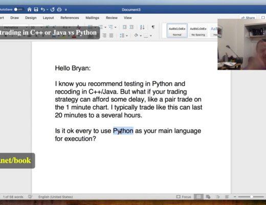 FAQ: Algo trading in C++ or Java vs Python