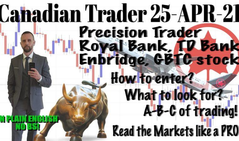 How to Trade like PRO (Covering Royal Bank, TD, GBTC + Enbridge Stock) 25-04-2021