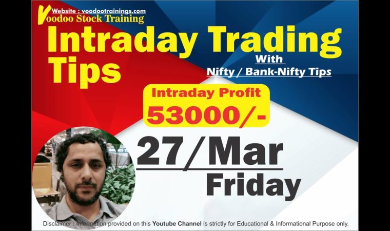Intraday Jackpot for 27 Mar | Free Intraday Trading Tips | Intraday Trading Strategies For Beginners