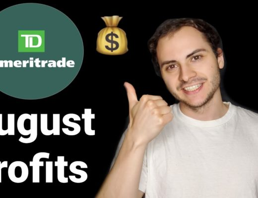 My TD Ameritrade Trading Bot Profits August 2020