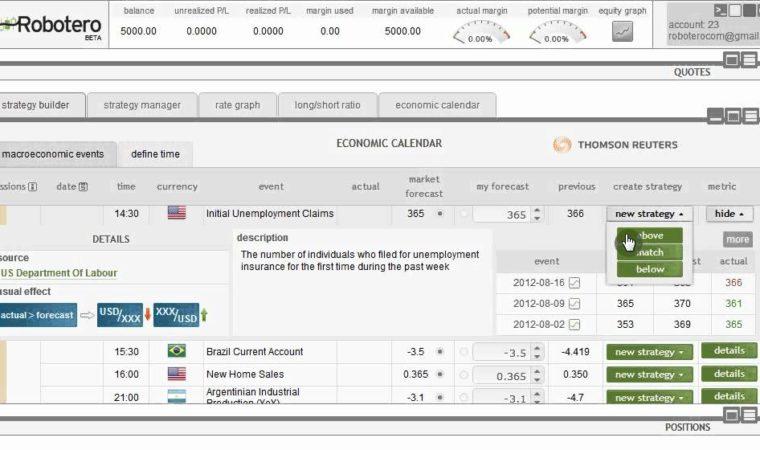 Robotero.com Event-driven strategies