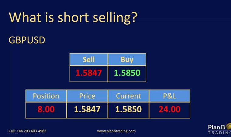 What is short selling   Forex Training Courses   Plan B Trading