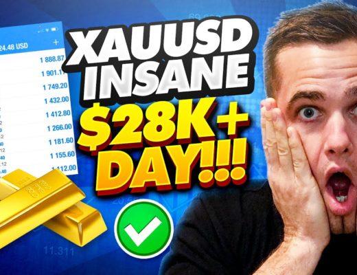 XAUUSD FOREX TRADING STRATEGY – INSANE $28K+ DAY (EXPLAINED)