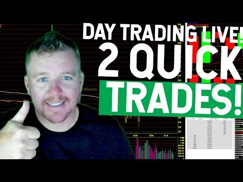 DAY TRADING LIVE! $300 GREEN STOCK MARKET RED!
