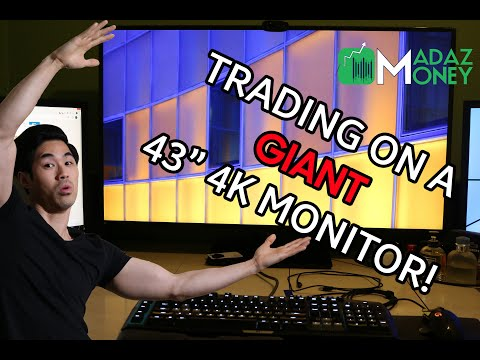 """DAY TRADING ON A GIANT 43"""" 4K MONITOR! - REVIEWING THE LG 43UD79-B"""