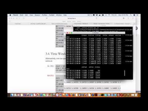Demo of FXCM Python package for forex trading, Forex Algorithmic Trading With Zipline