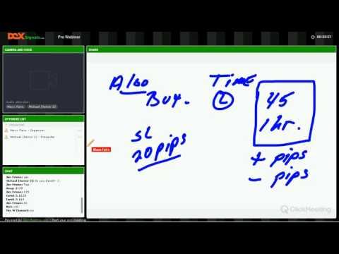 Dex Trader Forex-com Educational Signals explaining the ALGO, Forex Algorithmic Trading Vacation