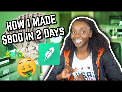 HOW I MADE $800 in 2 DAYS TRADING STOCKS on RobinHood and ThinkorSwim