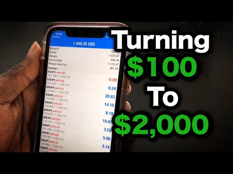 HOW TO GROW $100 TO $2,000 IN 3 DAYS TRADING FOREX IN 2020!