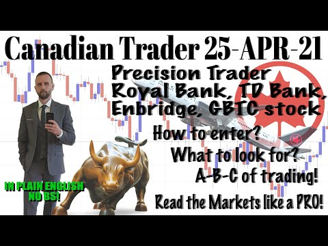 How to Trade like PRO (Covering Royal Bank, TD, GBTC + Enbridge Stock) 25-04-2021, Forex Position Trading Royale