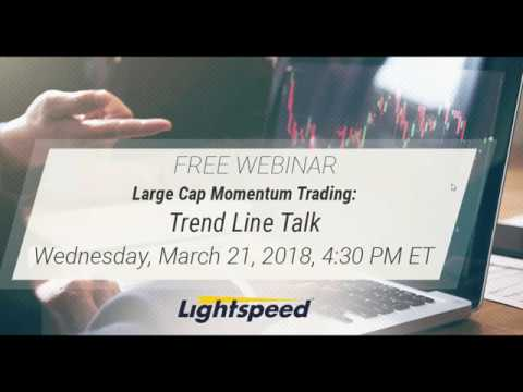 Large Cap Momentum Trading: Trend Line Talk