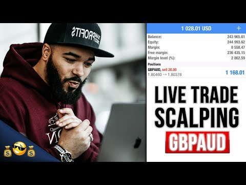 LIVE FOREX TRADE - Scalping Before News - Part 1, Forex Day Trader Scalper 1