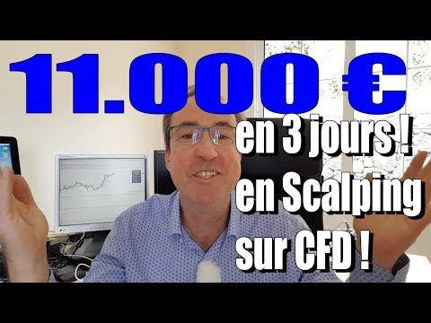 Trader les CFD. 11 000 euros de gains en scalping en 3 jours sur CFD., Cfd Scalping