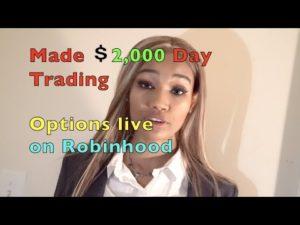 watch me make $2000 day trading options on Robinhood