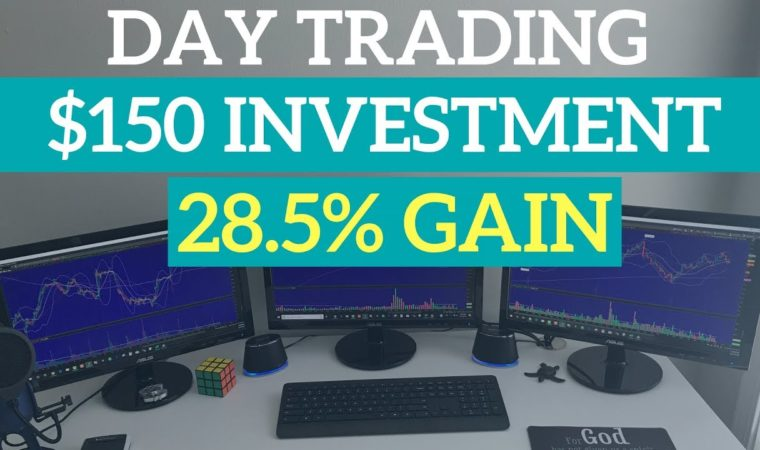 Day Trading with $150 Investment – Stock Options Bullish Momentum
