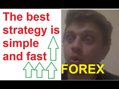 The best strategy is simple and fast   FOREX
