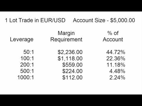 Margin requirments for forex