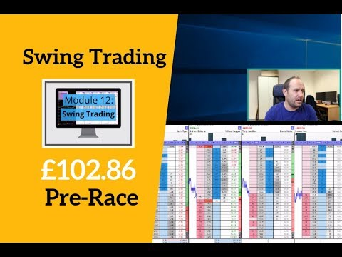 Betfair Swing Trade: £102.86 Pre Race (Video Course)