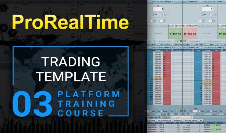 3. Trading template with order book, scalping tool
