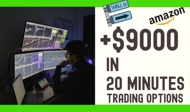 $9000 in 20 mins   Options Scalping   Day Trading   Stock Market