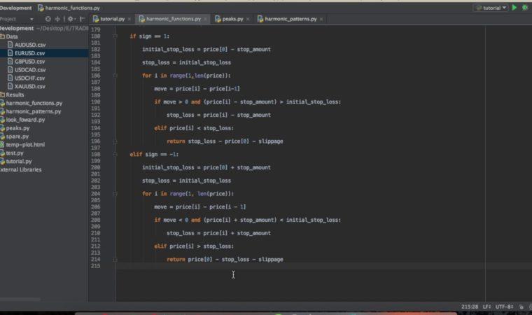 FOREX Harmonic Pattern Scanning Algorithm in Python pt. 6: Risk Management 1