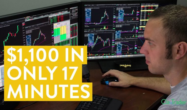 [LIVE] Day Trading   How I Made $1,100 Online (In Only 17 Minutes)