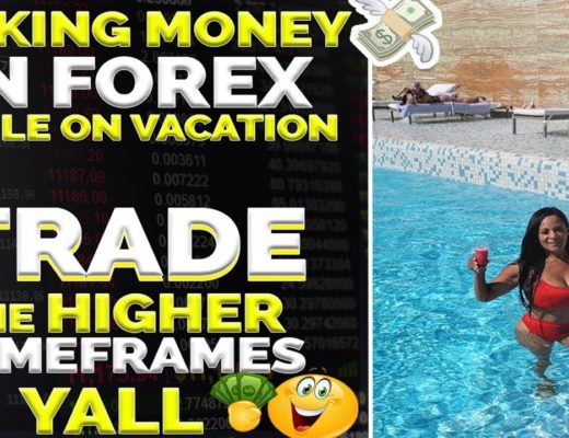 MAKING MONEY IN FOREX TRADING WHILE ON VACATION. TRADE HIGHER TIMEFRAMES YALL# How to trade forex.