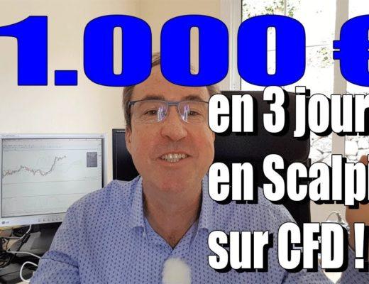 Trader les CFD. 11 000 euros de gains en scalping en 3 jours sur CFD.