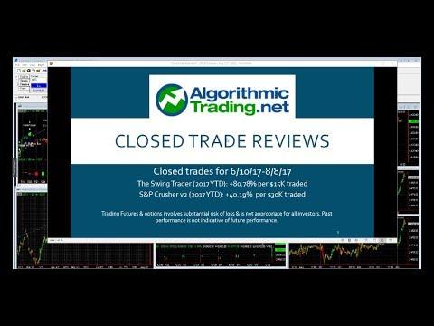 Algorithmic Trading Strategies Review: 6/10/17-8/8/17