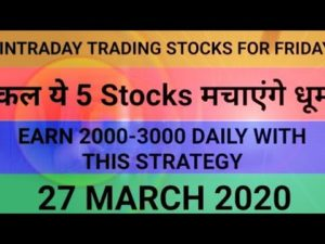 Intraday trading strategy for 27 March 2020 | With Chart Explanation | Sure Profit